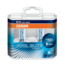 H11 Osram Cool Blue Intense  4200 Кельвинов. +20% (2шт)