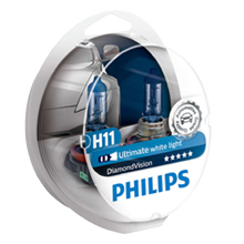 H11 Philips DiamondVision 5000 Кельвинов! (2шт)