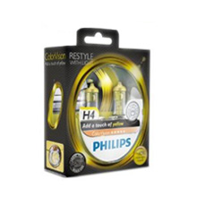 H4 Philips ColorVision Yellow +60% (2шт)