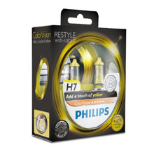H7 Philips ColorVision Yellow +60% (2шт)