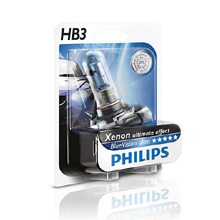 HB3 Philips BlueVision Ultra 4000 Кельвинов (2шт)