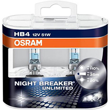 HВ4 Osram Night Breaker Unlimited +110% (2шт)